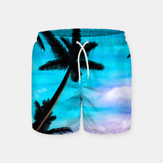 Thumbnail image of Sunset Palms Swim Shorts, Live Heroes