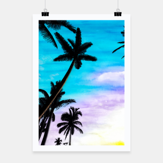 Thumbnail image of Sunset Palms Poster, Live Heroes