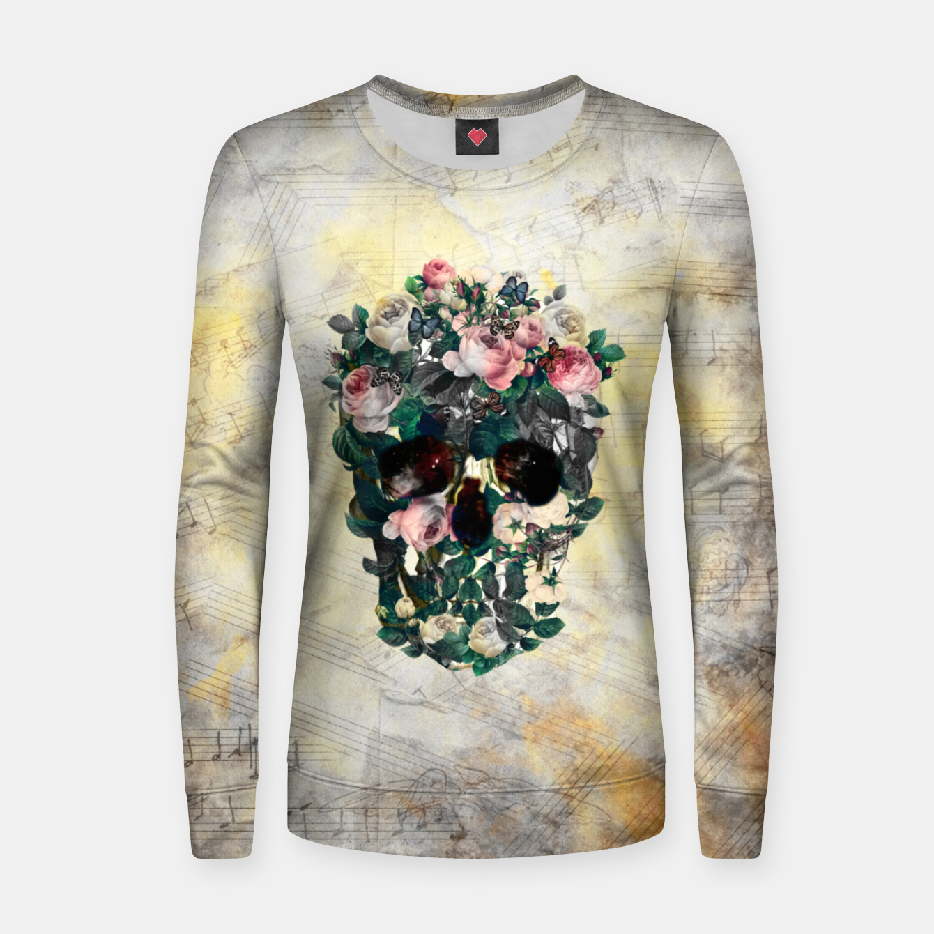 Foto Rose Garden Skull Women sweater - Live Heroes