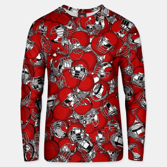 Thumbnail image of Dual-Threat Quarterback American football helmet pattern Unisex sweater, Live Heroes