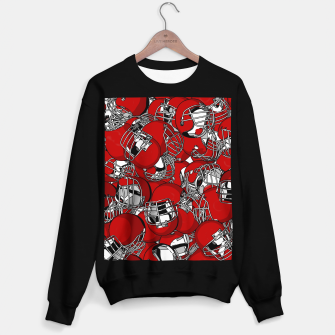 Thumbnail image of Dual-Threat Quarterback American football helmet pattern Sweater regular, Live Heroes