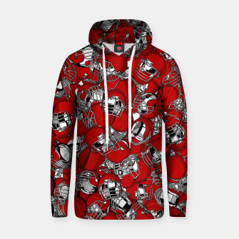 Thumbnail image of Dual-Threat Quarterback American football helmet pattern Hoodie, Live Heroes
