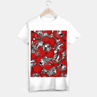 Thumbnail image of Dual-Threat Quarterback American football helmet pattern T-shirt regular, Live Heroes