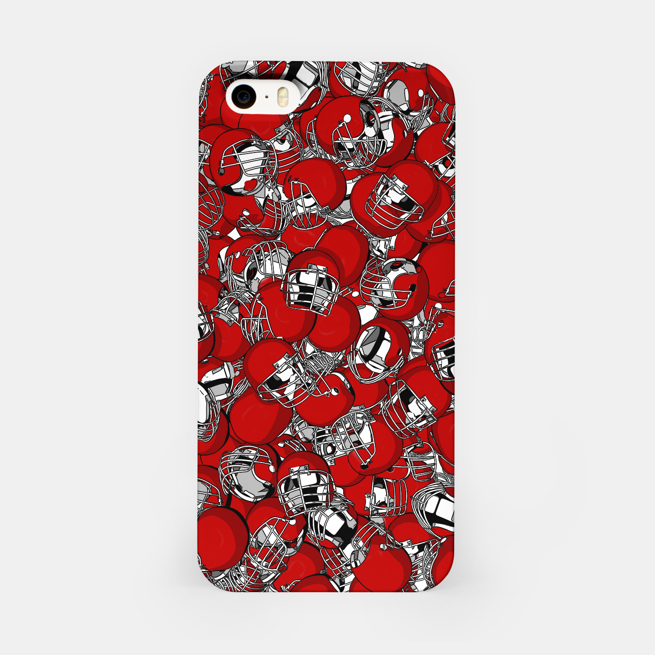 Image of Dual-Threat Quarterback American football helmet pattern iPhone Case - Live Heroes