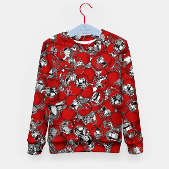 Thumbnail image of Dual-Threat Quarterback American football helmet pattern Kid's sweater, Live Heroes