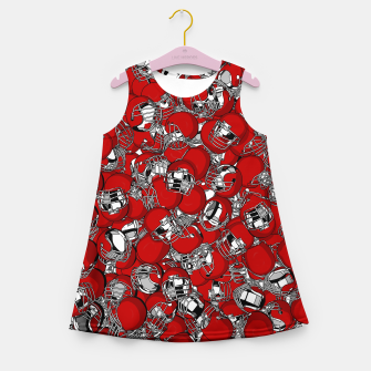Thumbnail image of Dual-Threat Quarterback American football helmet pattern Girl's summer dress, Live Heroes