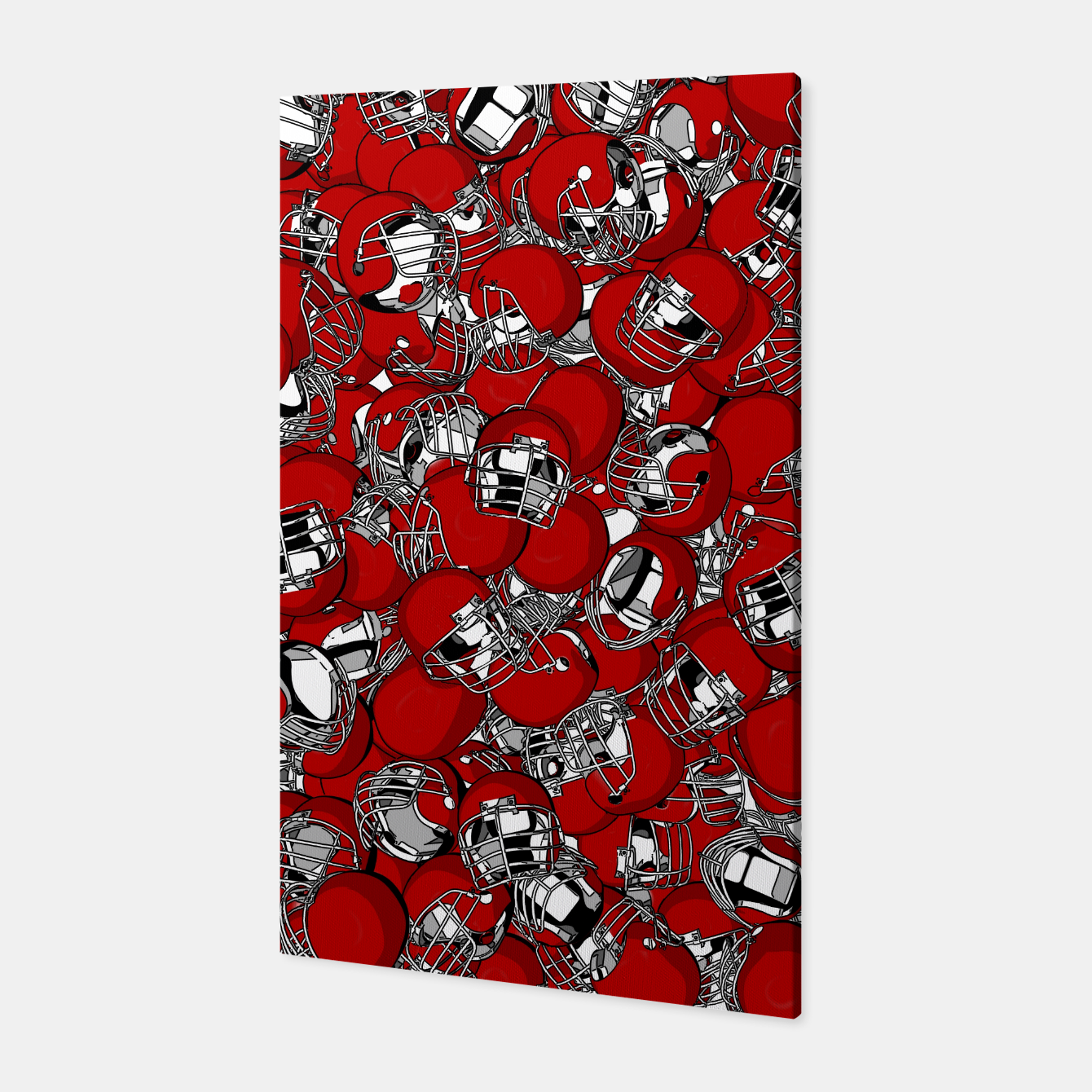 Image of Dual-Threat Quarterback American football helmet pattern Canvas - Live Heroes