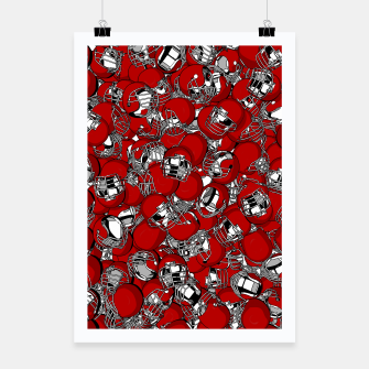 Thumbnail image of Dual-Threat Quarterback American football helmet pattern Poster, Live Heroes