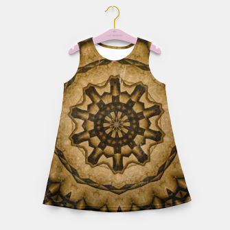 Thumbnail image of coffee and tea kaleidoscope Girl's summer dress, Live Heroes
