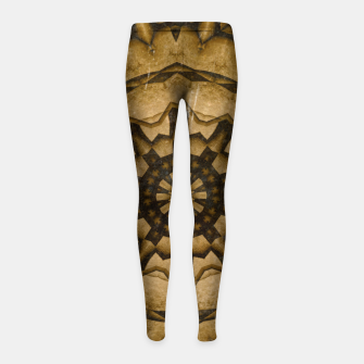 Thumbnail image of coffee and tea kaleidoscope Girl's leggings, Live Heroes
