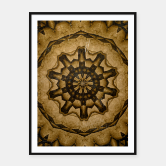 Thumbnail image of coffee and tea kaleidoscope Framed poster, Live Heroes