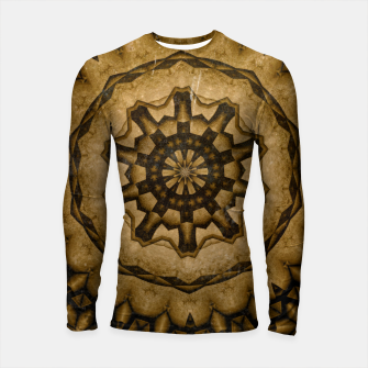 Miniatur coffee and tea kaleidoscope Longsleeve rashguard , Live Heroes