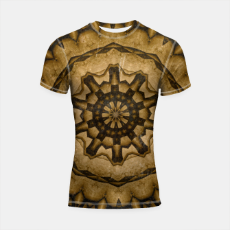 Miniatur coffee and tea kaleidoscope Shortsleeve rashguard, Live Heroes