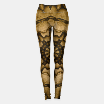 Miniatur coffee and tea kaleidoscope Leggings, Live Heroes