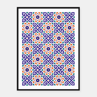 Thumbnail image of Original Traditional Moroccan Mosaic.  Framed poster, Live Heroes