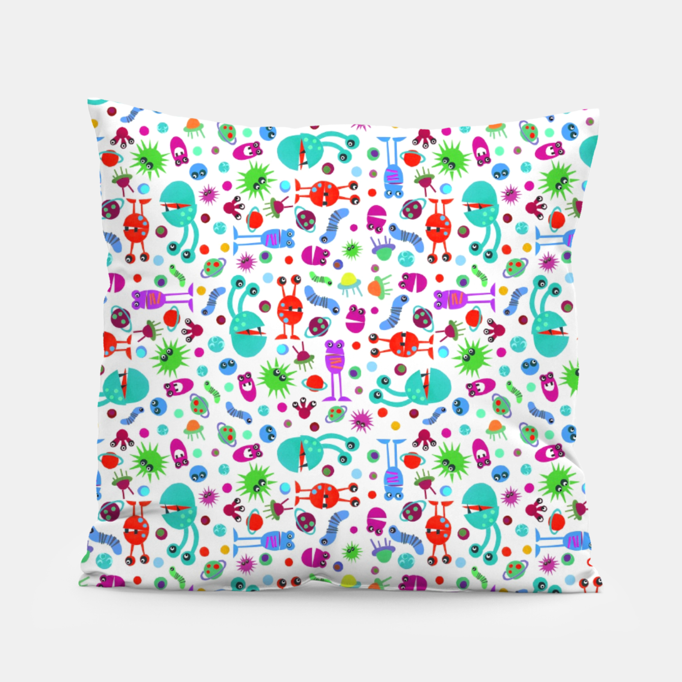 Image of Moon Landing Monsters – Pillow - Live Heroes