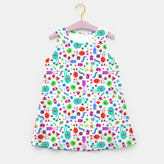 Moon Landing Monsters – Girl's summer dress thumbnail image