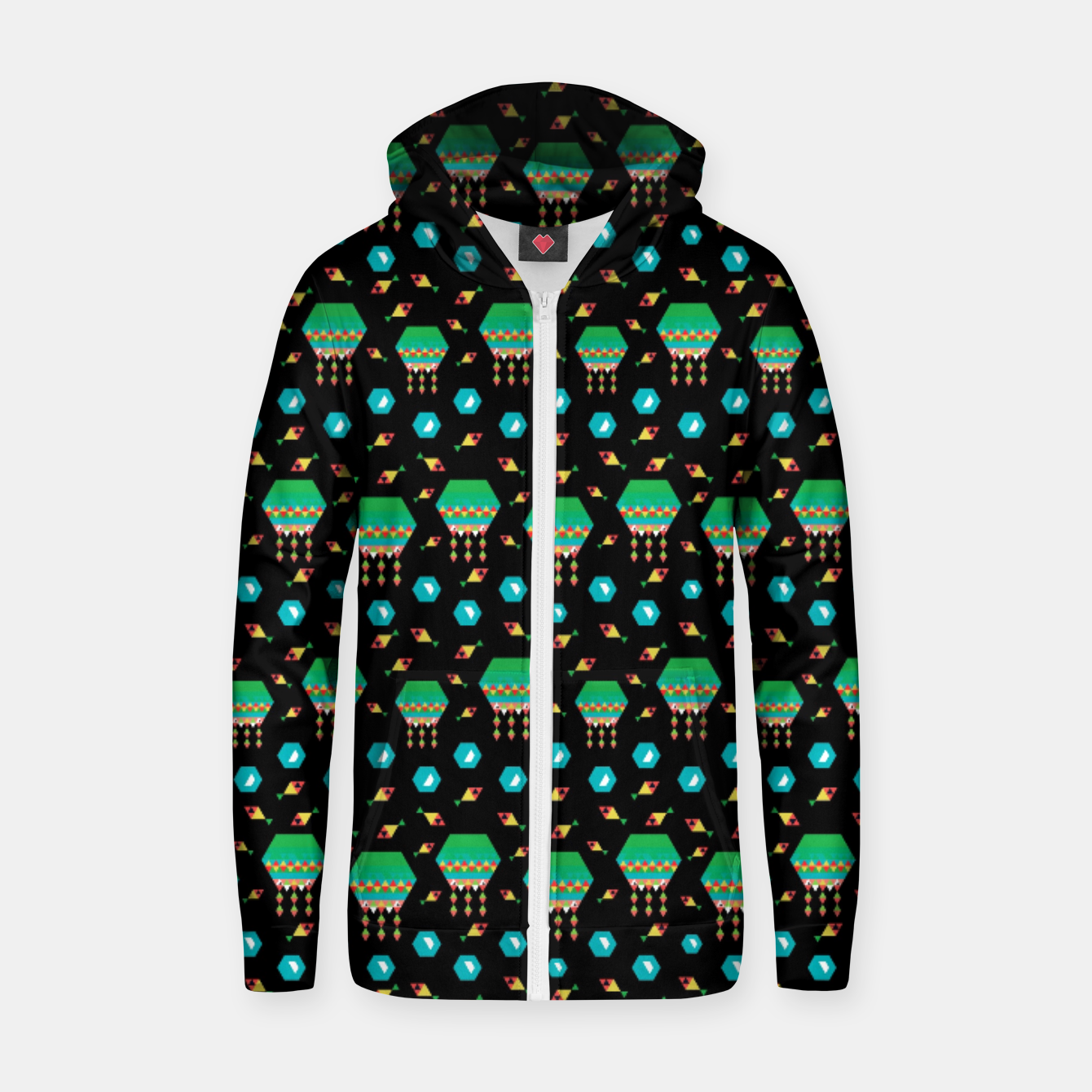 Image of Lucys Jellyfishes – Zip up hoodie - Live Heroes