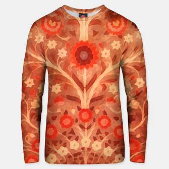 Miniaturka Antique  Indian Textile design in oranges Unisex sweater, Live Heroes