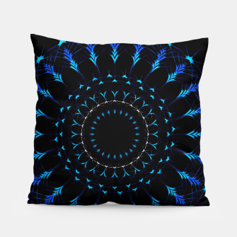 Thumbnail image of Intricate artistic Mandala Pillow, Live Heroes