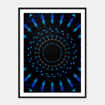 Thumbnail image of Intricate artistic Mandala Framed poster, Live Heroes