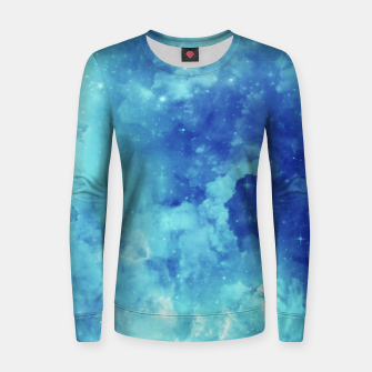 Miniaturka Galaxy blue clouds Women sweater, Live Heroes