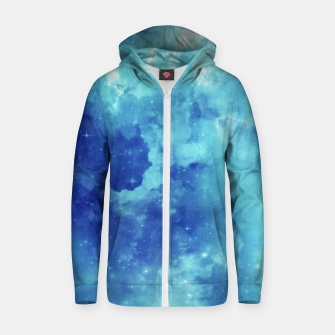 Miniaturka Galaxy blue clouds Zip up hoodie, Live Heroes