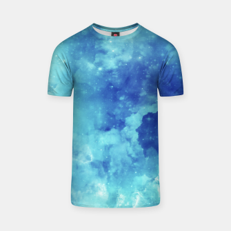 Miniaturka Galaxy blue clouds T-shirt, Live Heroes