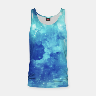 Miniaturka Galaxy blue clouds Tank Top, Live Heroes