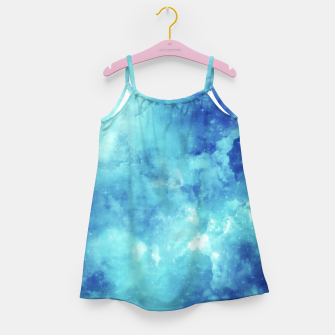 Miniaturka Galaxy blue clouds Girl's dress, Live Heroes