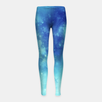 Miniaturka Galaxy blue clouds Girl's leggings, Live Heroes