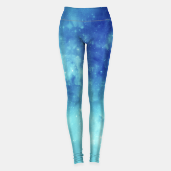 Miniaturka Galaxy blue clouds Leggings, Live Heroes