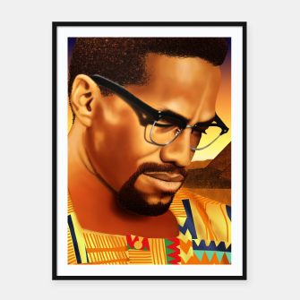 Thumbnail image of Malcolm Framed poster, Live Heroes