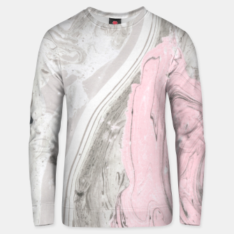 Thumbnail image of Pink and gray marble Sudadera unisex, Live Heroes