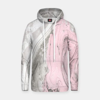 Miniaturka Pink and gray marble Sudadera con capucha, Live Heroes