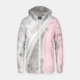 Thumbnail image of Pink and gray marble Sudadera con capucha y cremallera , Live Heroes