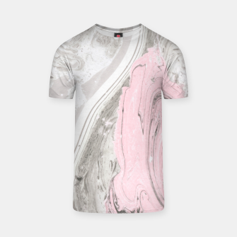 Pink and gray marble Camiseta thumbnail image