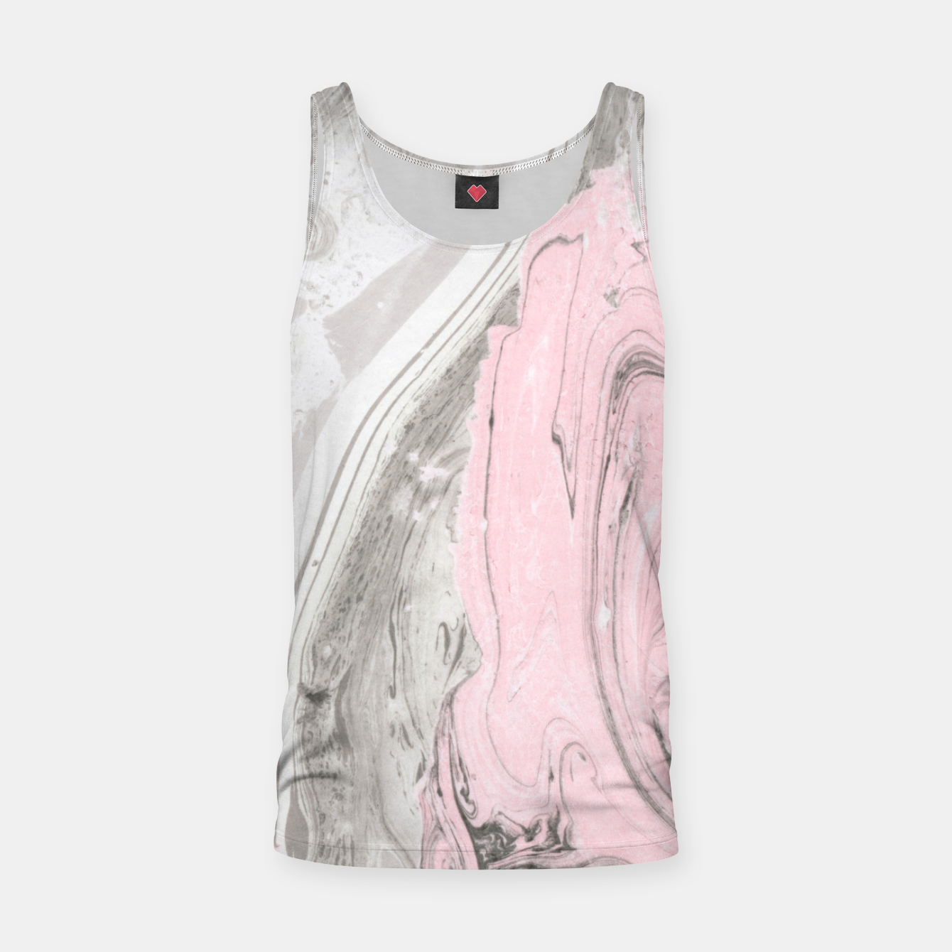 Image of Pink and gray marble Camiseta de tirantes - Live Heroes
