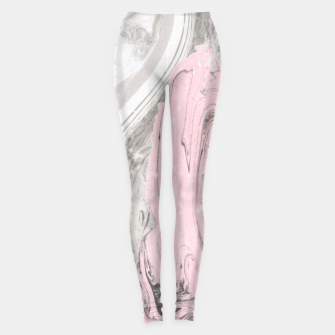 Miniaturka Pink and gray marble Leggings, Live Heroes