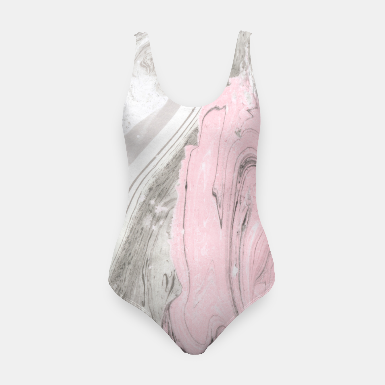 Image of Pink and gray marble Traje de baño - Live Heroes