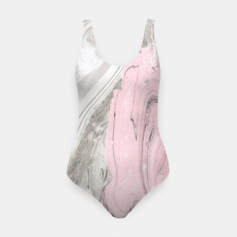 Thumbnail image of Pink and gray marble Traje de baño, Live Heroes
