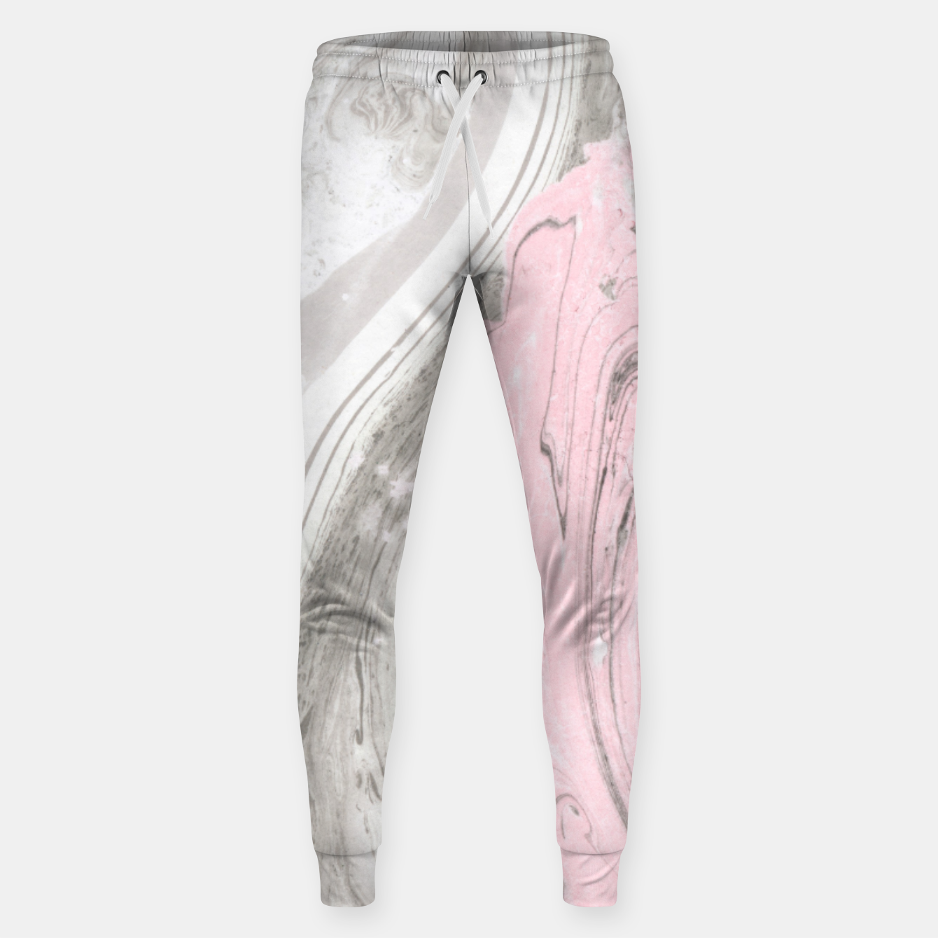 Image of Pink and gray marble Pantalones de chándal  - Live Heroes