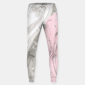 Thumbnail image of Pink and gray marble Pantalones de chándal , Live Heroes