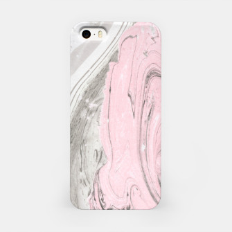 Pink and gray marble Carcasa por Iphone thumbnail image