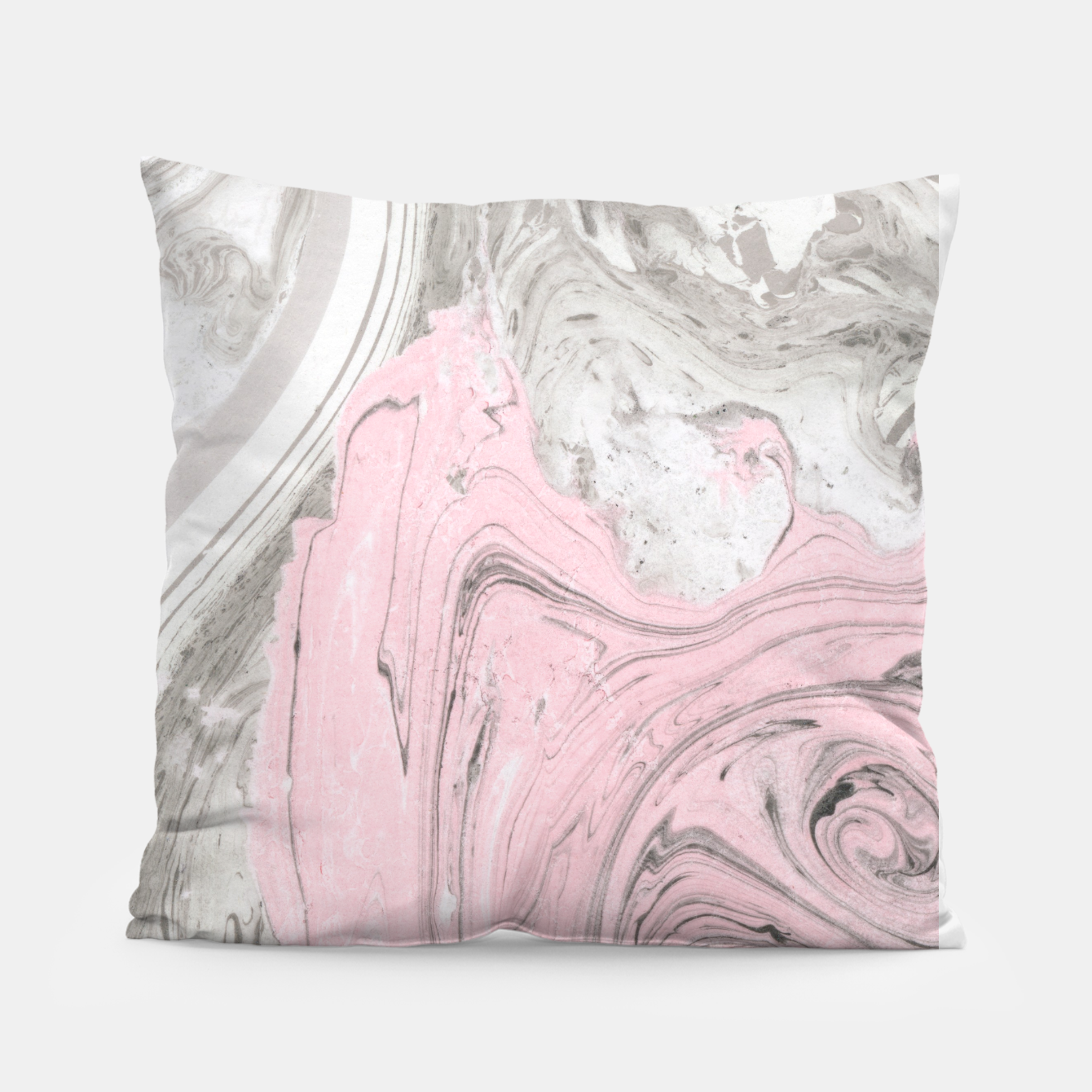 Image of Pink and gray marble Almohada - Live Heroes
