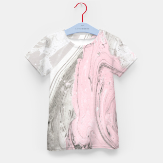 Thumbnail image of Pink and gray marble Camiseta para niños, Live Heroes