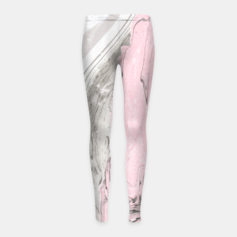 Miniaturka Pink and gray marble Leggings para niña, Live Heroes