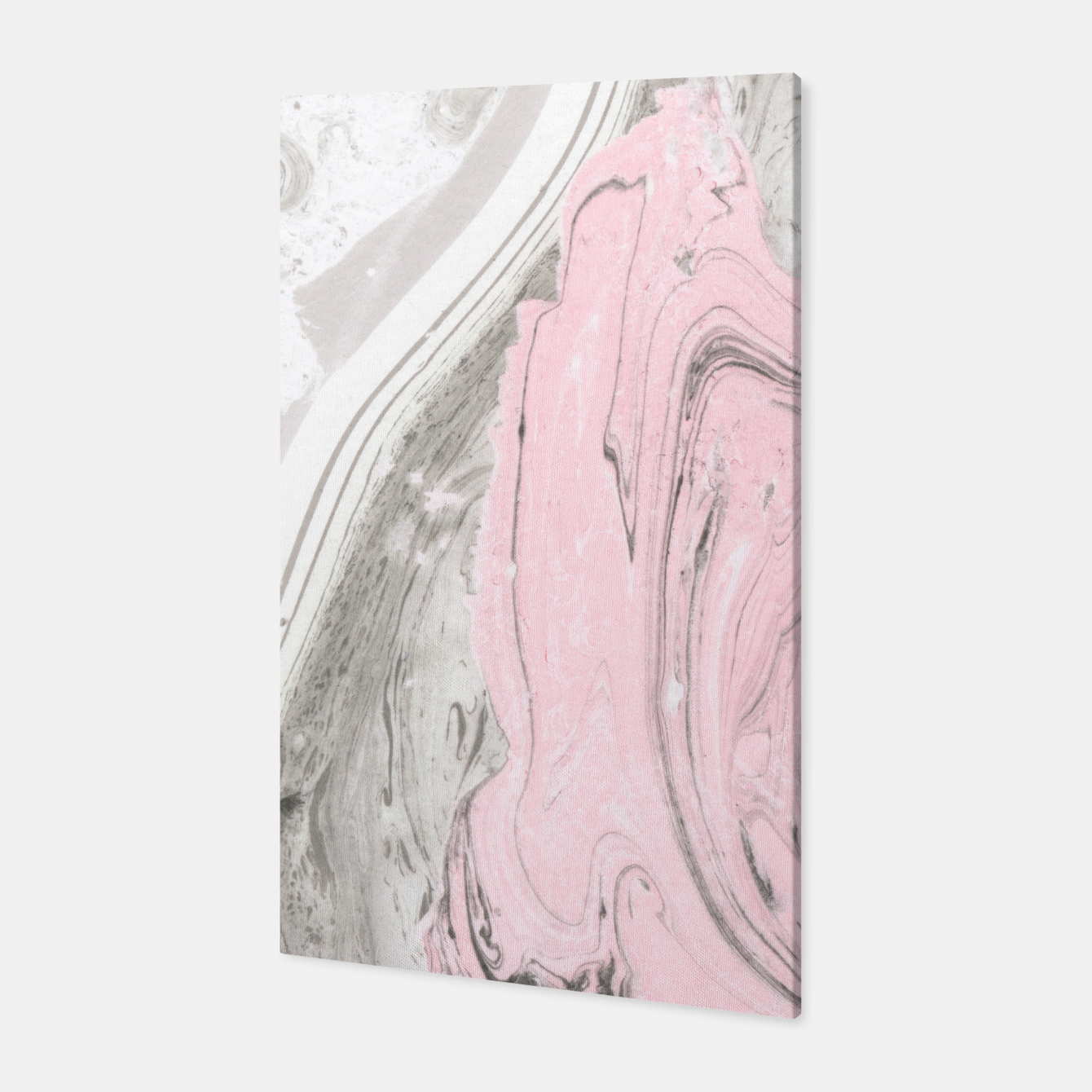 Image of Pink and gray marble Canvas - Live Heroes