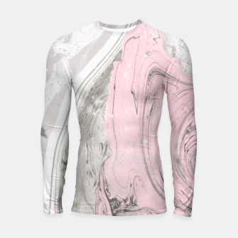 Thumbnail image of Pink and gray marble Longsleeve rashguard, Live Heroes