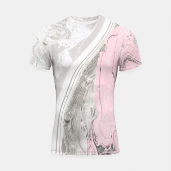 Pink and gray marble Shortsleeve rashguard thumbnail image